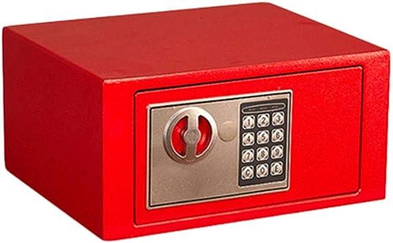 Caja de Seguridad Teclado numérico Seguridad de Oficina Acero Alarma incorporada a Prueba de Humedad Montaje en Pared Rojo 31 * 20 * 20 cm Caja de Almacenamiento: Amazon.es: Electrónica