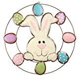 Easter Bunny Eggs Door Wreath Easter Wall Hanging Decoration for Home or Office