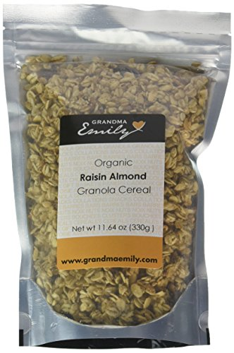 Grandma Emily Organic Granola Cereal 5 x 11.64 Ounce Packs. Assorted Flavours. Delicious Healthy Vegan Snack With All-Natural Ingredients ()