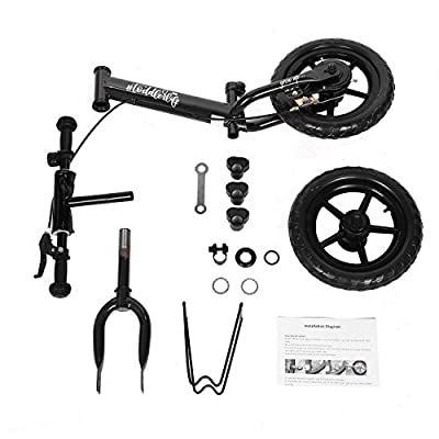 Xixou 12 Sport Balance Bike No Pedal Walking Bicycle with Carbon Steel Frame, Adjustable Handlebar and Seat, 110lbs Capacity for Ages 3 to 6 Years Old