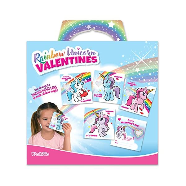 Kangaroo Rainbow Unicorn Valentine's Cards (28-Count) 8