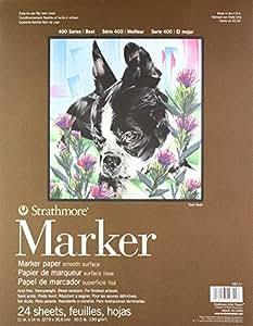 "Strathmore Paper 400 Series Marker Pad 11""x14"" Glue Bound 24 Sheet"