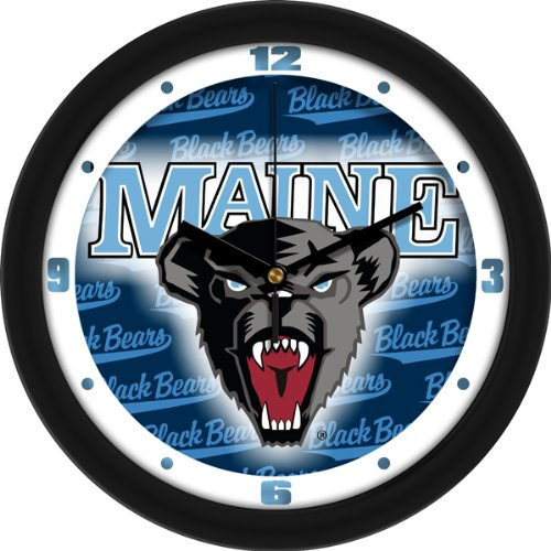 SunTime NCAA Maine Black Bears Wall Clock