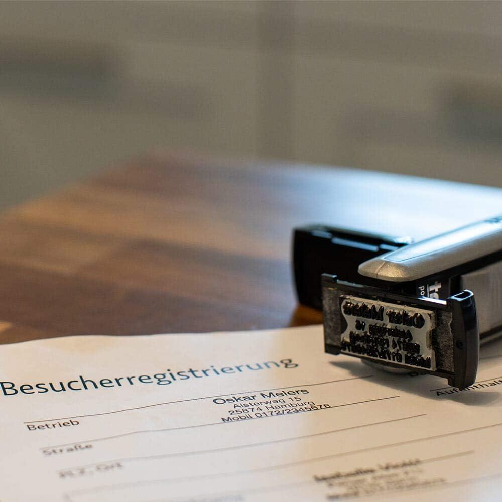 Personaliserter Kontaktdaten-Stempel Trodat Pocket Printy 9511 Schwarz