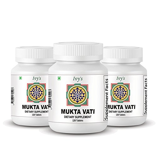 Cheap Mukta Vati 120 Herbal Tablet, 3 Packs of 120 Tab Each Ivy's Muktavati