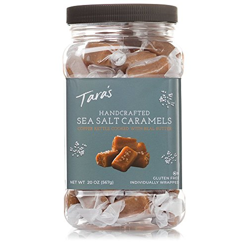 Salted Organic Sticks - Tara's All Natural Handcrafted Gourmet Sea Salt Caramel: Small Batch, Kettle Cooked, Creamy & Individually Wrapped - 20 Ounce