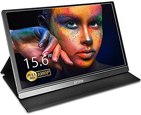 Aztine Monitor portátil de 15,6 pulgadas, 1920 x 1080 píxeles full HD IPS pantalla con HDMI para ordenador portátil, PC, MacBook Pro, Xbox, PS4, teléfono con Android, funcionalidad completa tipo C: Amazon.es: Electrónica