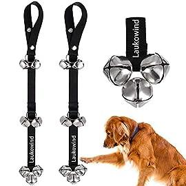 2 Pack Dog Bells for Door Potty with 7 Extra Loud Bells Adjustable Housebreaking Doggy Door Bells for Potty Training Your Puppy WATTA Dog Doorbells for Potty Training Black /& Blue