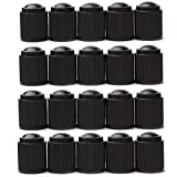 tire air valve - Black Plastic Valve Cap Tire Rim Wheel Valve Stem Caps (100 Pcs)