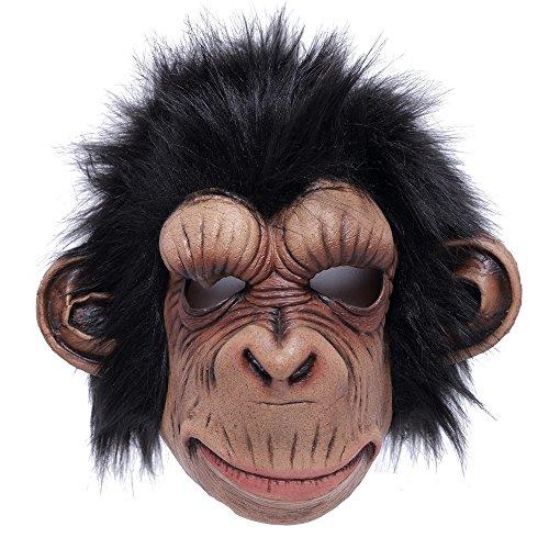 Adult Mask Costumes Chimpanzee (Uniton Horror Mask - Halloween Costume Accessory)