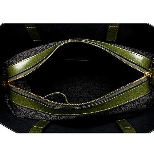 à A Casual Femme Besace Grand Main Fashion WWAVE Femmes à rétro green Sac Sac bandoulière Sacs Sac à Main TFEq4