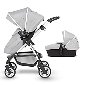 Silver Cross Wayfarer Pushchair and Carrycot, Platinum