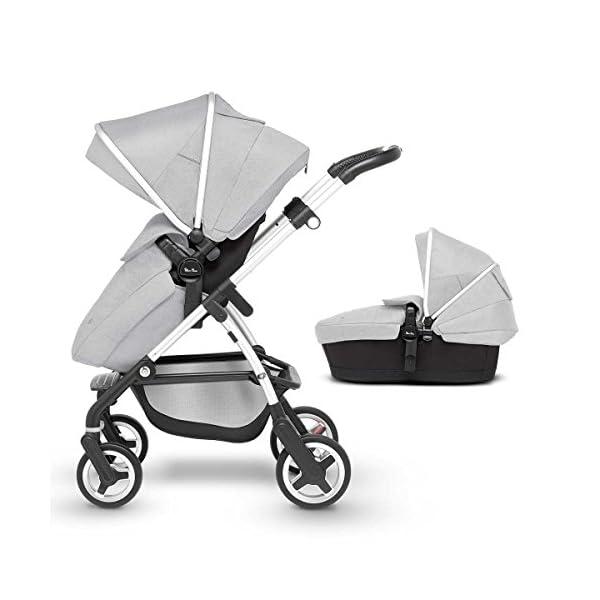 Silver Cross Wayfarer Pushchair and Carrycot, Platinum
