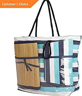 Sandover Sun N Sand Beach Bound Beach Canvas Tote 3 Colors | Model LGGG - 11207 |