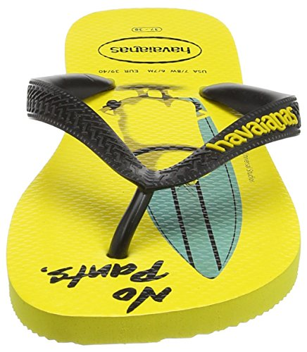 Havaianas Minions, Chanclas Estampadas Unisex Adulto Multicolor (Citrus Yellow/Black 4426)
