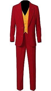 Joaquin Phoenix Joker Tuxedo 3 Piece Red Suit at Amazon ...