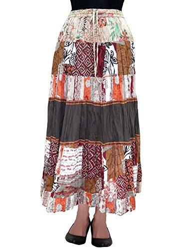 Indian Long Skirt Brown Cotton Handicrfats Women's Export Breeze Cotton FP242 rYrwag