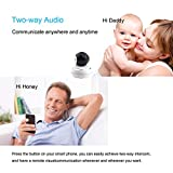 960P WiFi IP Camera Wireless Home Security Camera with Night Vision Surveillance CCTV Camera Baby Pet Monitor Support 64GB Micro SD Card Night Vision Two-way Audio Motion Detection Pan/Tilt/Zoom