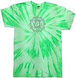 Yoga Clothing For You Mens Anahata Tie Dye Shirt, 3XL Neon Kiwi Review