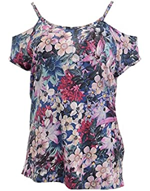 Guess Women's Officers Floral Off Shoulder Top