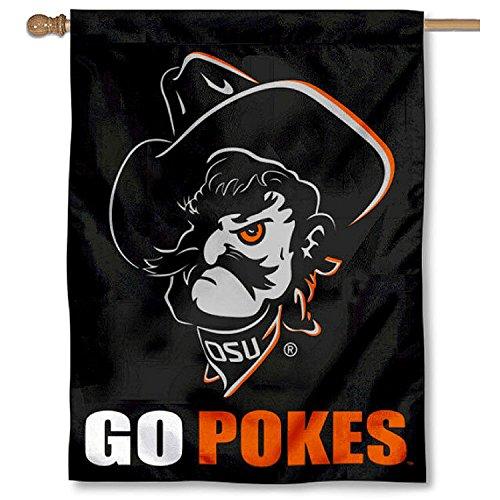Cowboys Pokes - OSU Cowboys GO POKES Double Sided House Flag