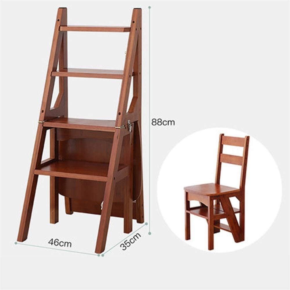 MMWYC Taburetes de escalón, multifunción, Escalera Plegable Vintage, de Madera Maciza, fácil de almacenar, 18.1 x 13.8 x 34.6 Pulgadas: Amazon.es: Hogar