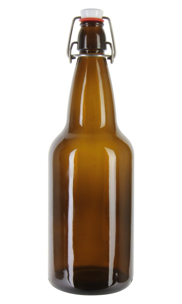 amazon com case of 12 16 oz ez cap beer bottles amber