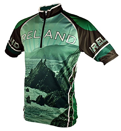 Wild Atlantic Ireland Cycling Jersey (M) Black/Green