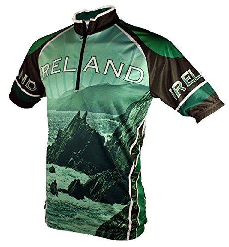 Wild Atlantic Ireland Cycling Jersey (L) Black/Green