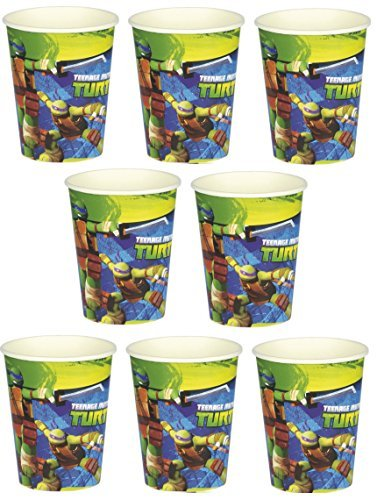 Nickelodeon Mutant Teenager Ninja Turtle Birthday Party 9oz of 16x Paper Cup ~ Birthday Party Supplies Favors]()