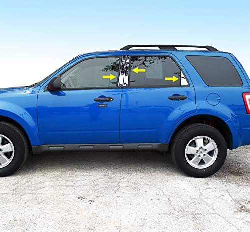 Made in USA! Compatible with 2008-2012 Ford Escape 6 PC Stainless Steel Chrome Pillar Post Trim