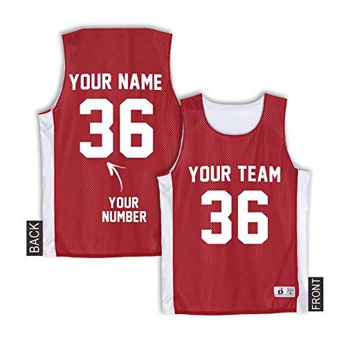 (Replica Michael Jordan Jersey - Custom Red Basketball Tank Top - Chicago Bulls Jersey)