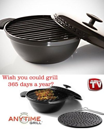Minden Anytime Grill- mgd01 BLACK For use w/gas & electric stovetops AS SEEN ON TV (Electric Stove Top Grill)