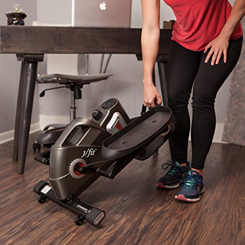 jfit Under Desk & Stand Up Mini Elliptical/Stepper w/Adjustable Angle | The Ideal Fitness & Exercise Equipment For Home| Ideal For Men, Women, Kids & Seniors| Premium Home Gym Equipment