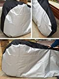 Newest Bicycle Cover, Rain Proof Dustproof Heavy Duty Seat Protective Extra Large Outdoor Bick Cover [200x70x110cm] [Black+Silver] XL