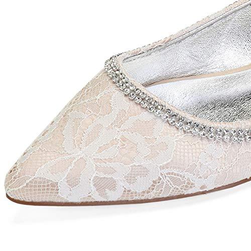 Heels Abend Hochzeit Geschlossene Schuhe 5 Zehe Ferse 1 auf Frauen Elobaby Pumps Chunky cm Low Herbst Prom wRB540xq