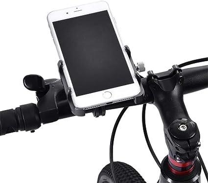 soporte ajustable para soporte de manillar de bicicleta para motocicleta Soporte para tel/éfono de bicicleta y motocicleta apto para tel/éfono m/óvil Soporte para tel/éfono celular de motocicleta