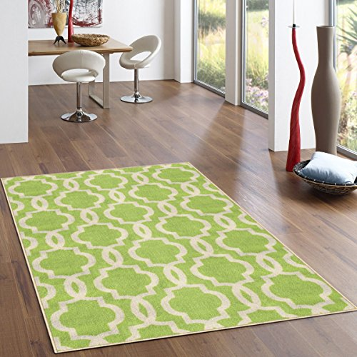 Kapaqua Rubber Backed Fancy Moroccan Area Non-Slip Rug, 60