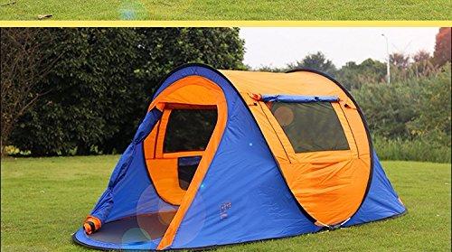 ZHUDJ Markise Outdoor 3-4 Personen, Zwei Schlafzimmer Und Ein Wohnzimmer, 2 Personen Schnell Und Einfach Öffnen, Zelten, Camping, Selbstfahrer Tour, Orange