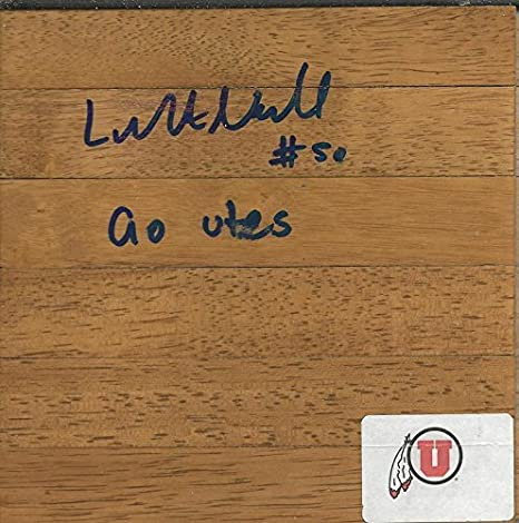 luke nevill signed floorboard utah utes autographed college