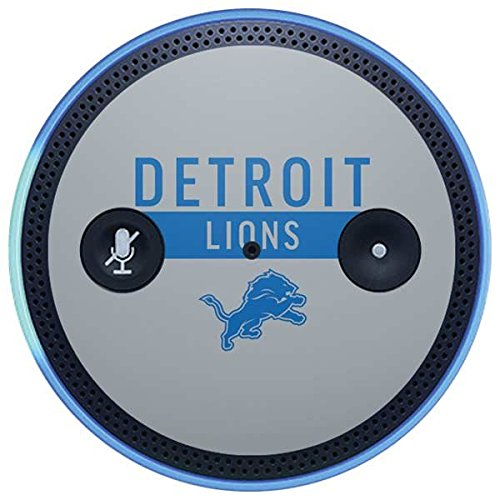 Skinit NFL Detroit Lions Amazon Echo Plus Skin - Detroit Lions Grey Performance Series Design - Ultra Thin, Lightweight Vinyl Decal Protection