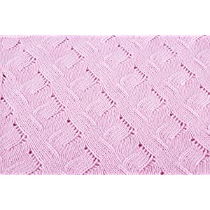 Girls Luxury 100% Cashmere Baby Blanket – 'Baby Pink' – Hand Made in Scotland by Love Cashmere – RRP $300