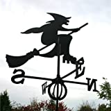 Wetterfahne Hexe groß