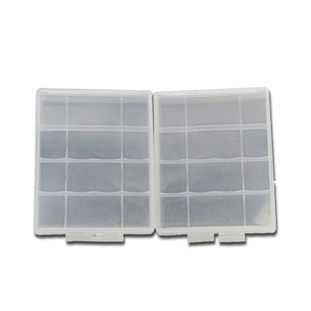 INLAR Battery Storage Box Battery Storage Case Battery Holder Clear Suitable for 4 x AA/AAA batteries Waterproof Protective Case(White) by INLAR (Image #4)