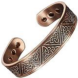 Copper Bracelet for Arthritis Magnetic Therapy Bracelet Pain Relief Health Bracelet Healing Bangle Celtic Bracelet for Men Sizes M - XL - Trinity Knot (XL: Wrist 8-9.5''/20.5-24cm'')