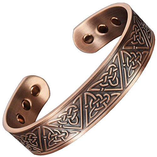 Copper Bracelet for Arthritis Magnetic Therapy Bracelet Pain Relief Health Bracelet Healing Bangle Celtic Bracelet for Men Sizes M - XL - Trinity Knot (XL: Wrist - Bracelet Celtic Bangle