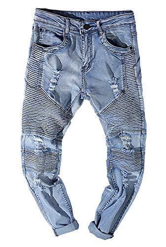88 Especial Da Strappati Jeans Uomo Hole Colour Pantaloni Estilo Strappati Faltig Bobo Uomo dUwZqOzd