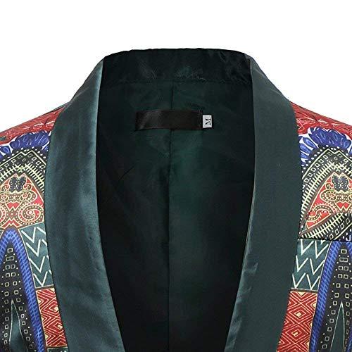 Battercake Slim Loisirs Hommes Veste Style Costume Africain National Moderne Manteau Blazer Fit Décontractée Confortable Grün wgpZxrw
