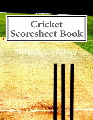 Cricket Scoresheet Book  Pages  Sheets Julien Coallier