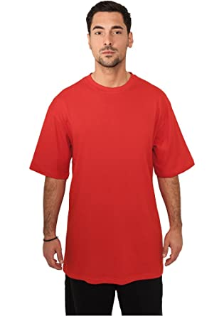 Urban Classics Tall Tee red in Größe: 4XL + original Bandana gratis